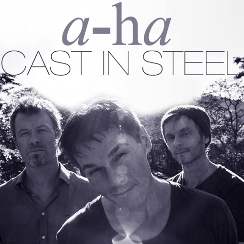 a-ha, cast in steel, under the makeup